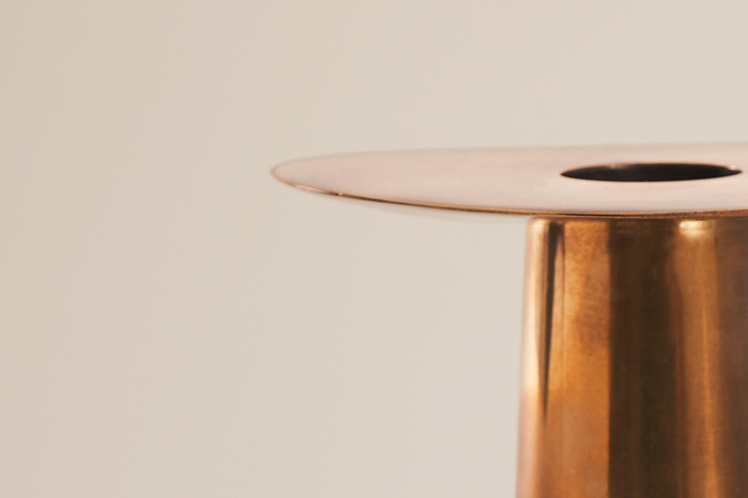 DUO CANDLE HOLDER, BRASS 2