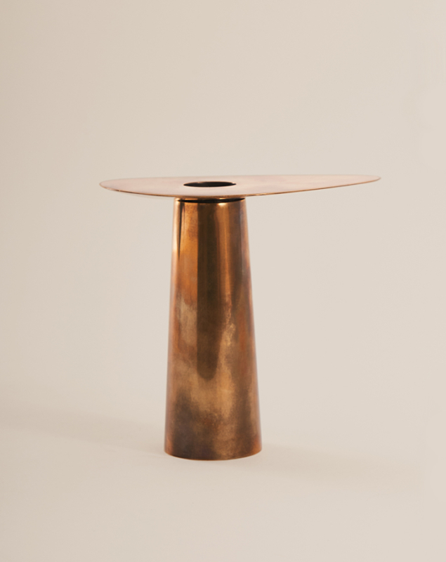 DUO CANDLE HOLDER, BRASS